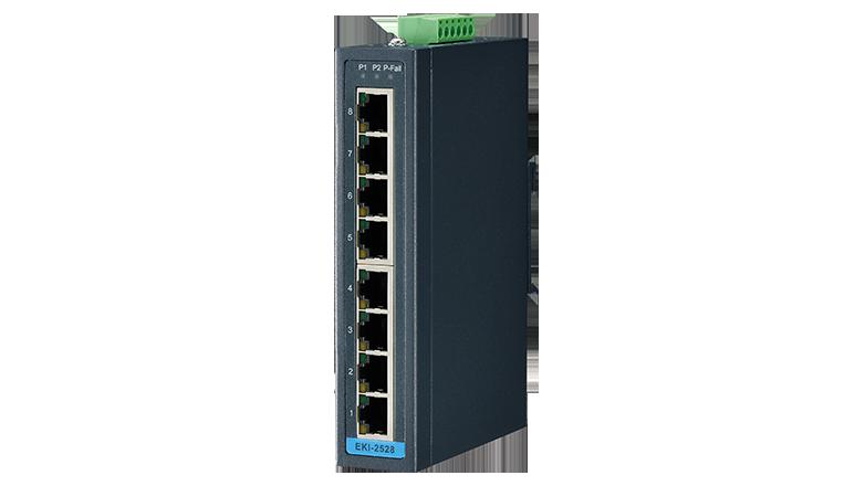 Advantech EKI-2528 switch, 8 Port 10/100 (unmanaged) | Producten | MCS
