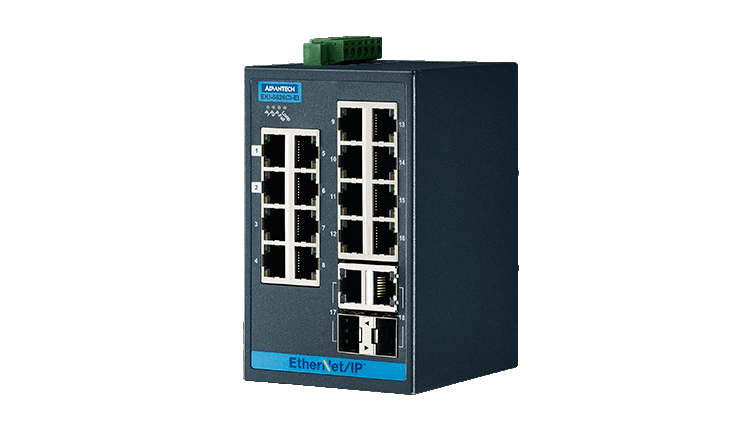 Advantech EKI-5626CI Switch, 16 Port 10/100 (Monitored | Monitored switches | Product | MCS