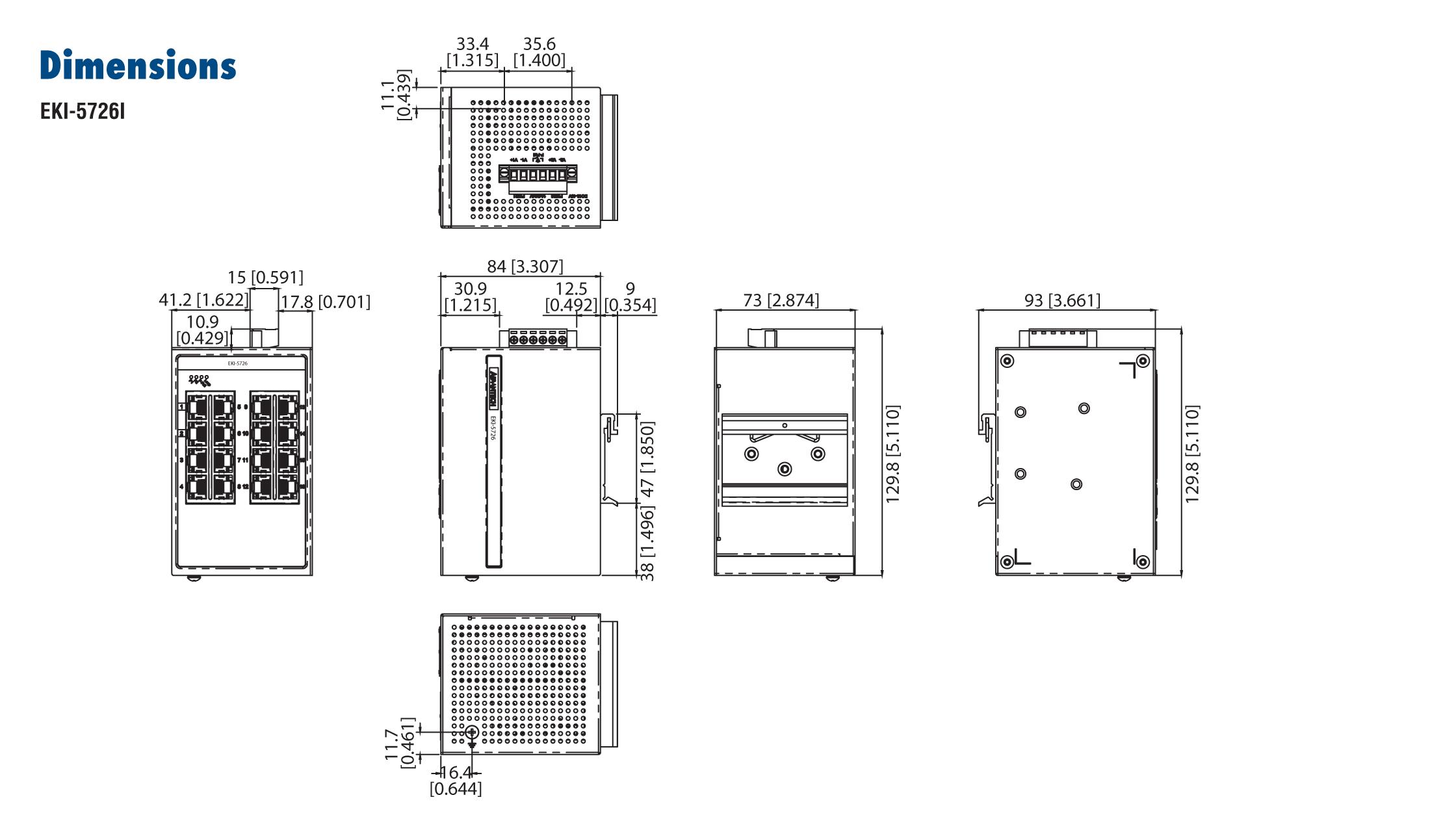 Advantech EKI-5726I 16 Port 10/100/1000 (Monitored) | Producten | MCS