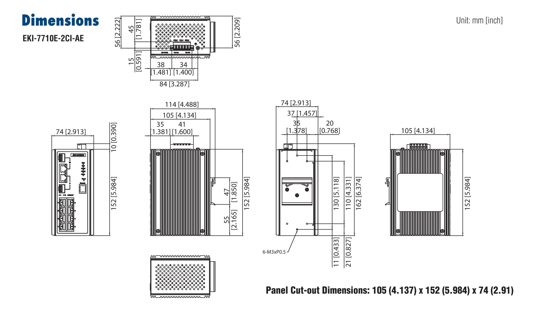 Advantech EKI-7710E-2CI Switch, 8 Port 10/100 (Managed) | Producten | MCS