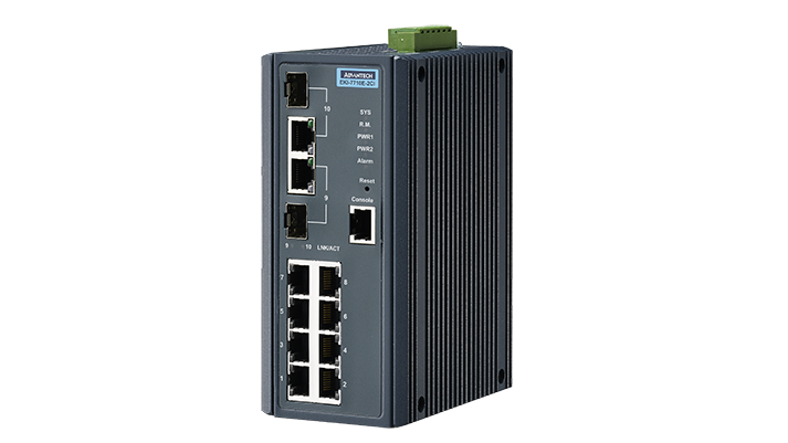 Advantech EKI-7710E-2CI Switch, 8 Port 10/100 (Managed) | Managed switches | Product | MCS