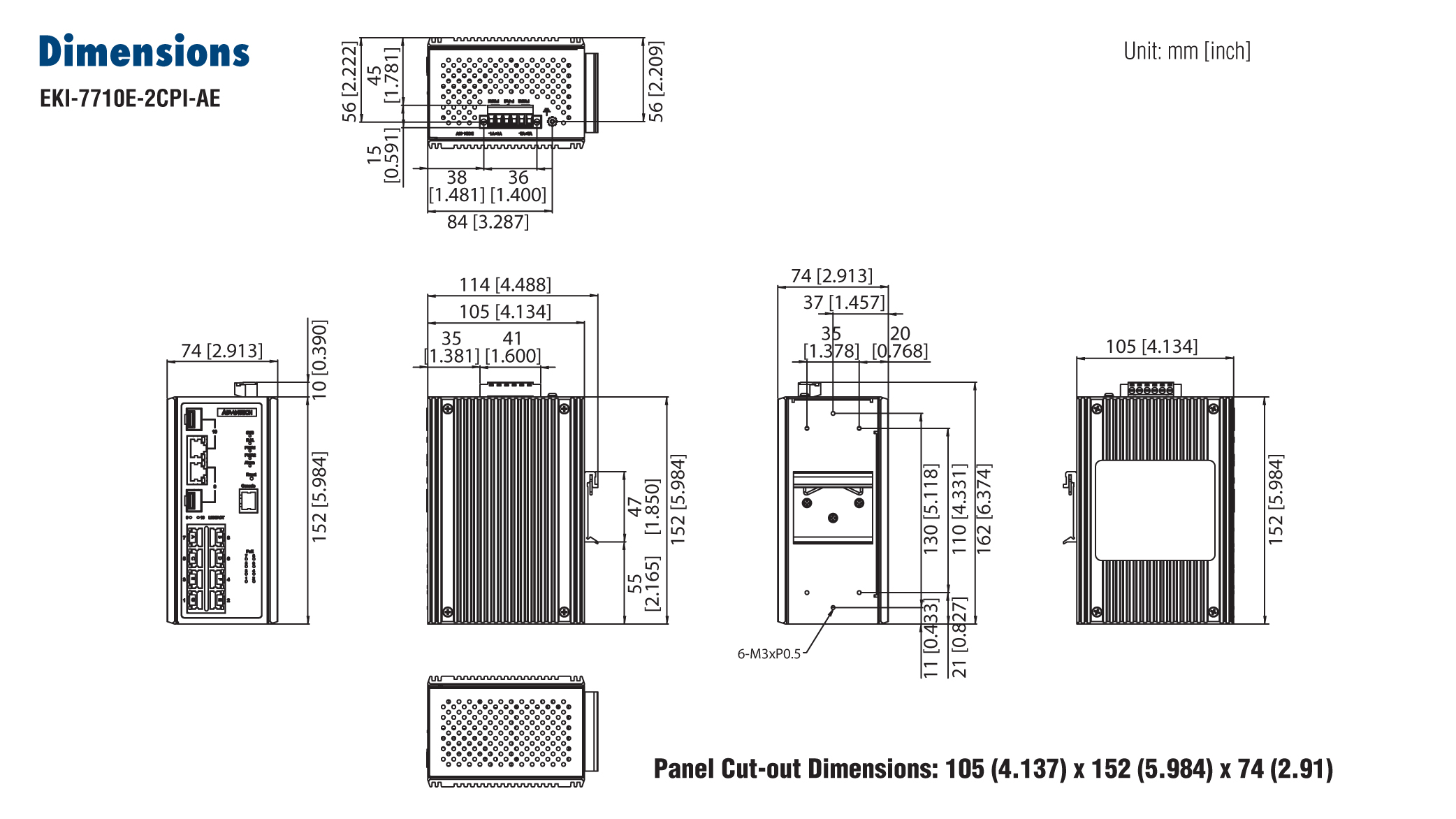 Advantech EKI-7710E-2CPI, 8 Port 10/100 POE+ (Managed) | Producten | MCS