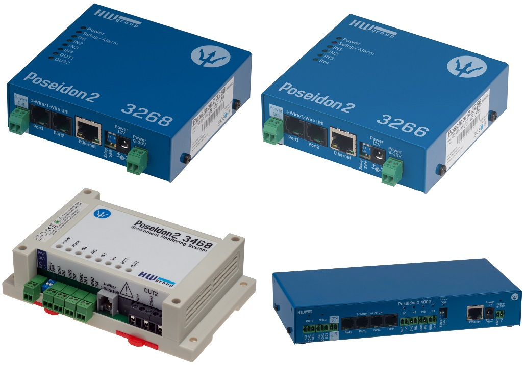 HWg Poseidon2 Serie - Remote monitoring sensors over LAN |  | Product | MCS