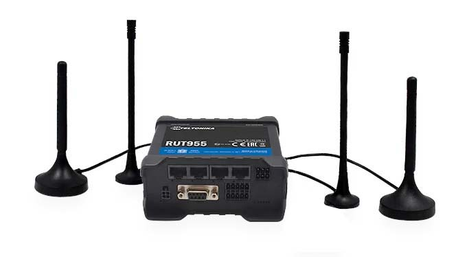 Teltonika RUT955 LTE router i/o RS232 RS485, V2 | 4G routers/gateways | Product | MCS