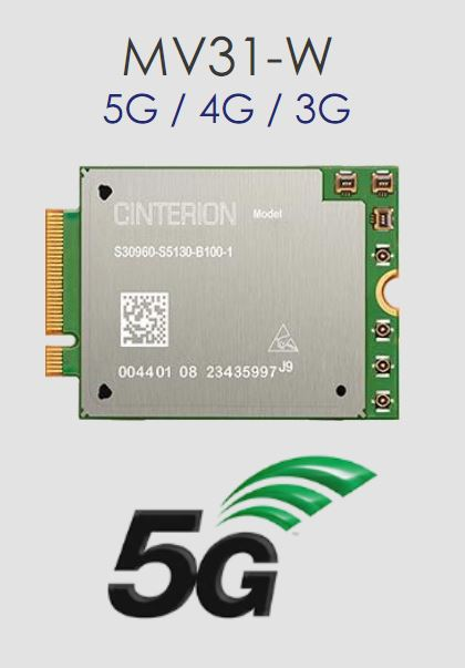 Thales (Gemalto) Cinterion MV31-W miniPCI modem card 5G with GNSS | 4G engines, 5G engines | Product | MCS