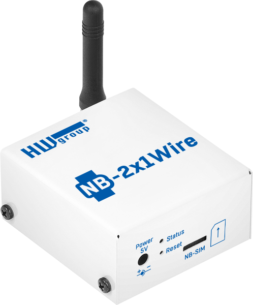 HWg NB 2x1Wire SensDesk Gateway incl. NB IoT SIM | LTE-M routers, Slimme industriemonitoring, Slimme temperatuur monitoring, Wifi Sensoring | Product | MCS