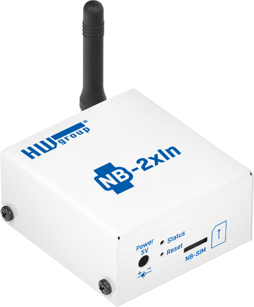 HWg NB 2xIn SensDesk Gateway incl NB-IoT SIM | LTE-M routers, NB IoT Gateways, Slimme industriemonitoring | Product | MCS