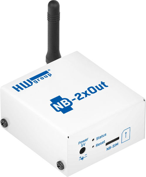 HWg NB 2x Out SensDesk Gateway incl NB-IoT SIM | LTE-M routers, NB IoT Gateways, Slimme industriemonitoring | Product | MCS