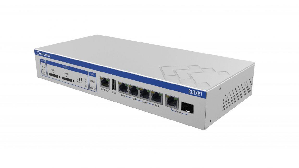 Teltonika RUTXR1 LTE/SFP (fiber) router, rack mountable, Wifi, 5x Gigabit LAN, dual SIM | 4G routers/gateways | Product | MCS